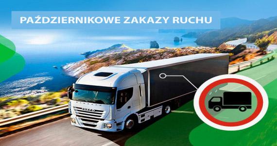 Październik: ograniczenia ruchu ciężarówek